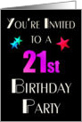 You're Invited to a 21st Birthday Party card