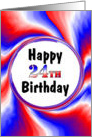 Happy BIrthday 24th card