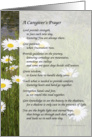 A Caregiver's Prayer card