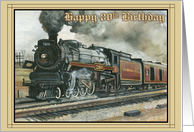 Birthday Locamotive - 80th card