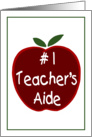Apple for the Teacher's Aide card