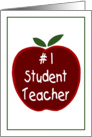 Apple for the Student Teacher card