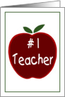 Apple for the Teacher card