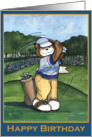 Happy Birthday, Male Golfer card
