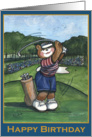 Happy Birthday, Female Golfer card