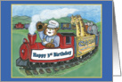 3rd Birthday Circus Train card