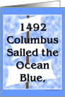 Columbus Sailed card