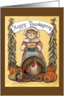 Thanksgiving Pilgrim Lady card