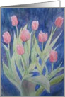 Mother's Day: Pink Tulips card