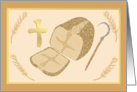 Lammas Day Religious Bread Card