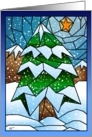 Stained Glass Christmas Tree card