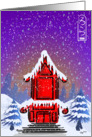 Winter Pagoda card