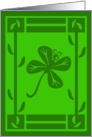 Shamrock Butterfly card
