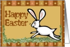 Happy Easter White Rabbit Card
