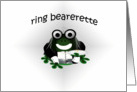 ring bearerette card