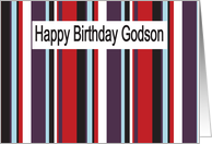 happy birthday Godson card