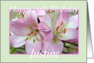 Happy 60th Birthday Justine card