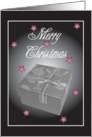Merry Christmas present on black card