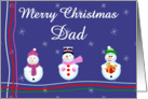 Merry Xmas dad card