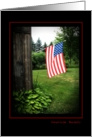 American Beauty- Patriotic Flag card