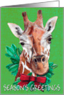 Giraffe Painting Christmas Card