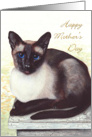 Mother's Day Siamese Cat Painting card