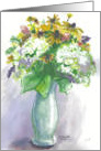 Blue Vase of Flowers card