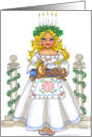 Evergreen Saint Lucia card