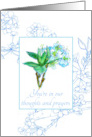 You are in our Thoughts and Prayers Sympathy Card