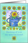 Thinking of you Special Friend Sunflowers Watering Can card