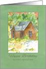 Son Happy Birthday Country Cabin Desert Landscape Watercolor card