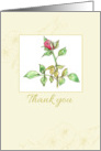 Wedding Gift Thank You Card Pink Rose Watercolor Illustration card