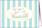 Will You Be My Godmother Invitation Lamb Art Drawing card