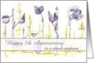 Happy Anniversary Employee Custom Business Cards Leaf Art card
