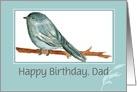 Happy Birthday Custom Name Card Chickadee Bird Painting card