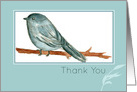 Thank You Blank Card Chickadee Bird Watercolor Painting card