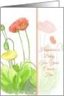 Congratulations Two Years Cancer Free Poppy Flower Watercolor Art card