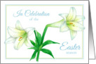 Easter Holiday Brunch Invitation White Lily Flower Art card