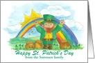 Happy St. Patrick's Day Leprechaun Custom Card
