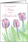 Bridal Shower Congratulations Niece Tulip Flower Watercolor card
