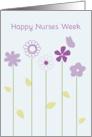 Happy Nurses Week Whimsical Purple Flowers Butterfly card