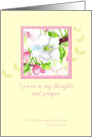 Thinking of You Scripture Cherry Blossom Flower Watercolor Art card