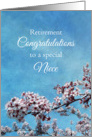 Niece Retirement Congratulations Cherry Blossom Tree card
