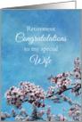 Wife Retirement Congratulations Cherry Blossom Tree card