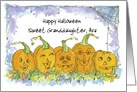 Happy Halloween Custom Name Pumpkins Funny Faces Spiders card