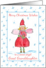 Merry Christmas Sweet Angel Great Granddaughter Blue Snowflakes card