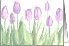 Lavender Tulip Blank Notecard Watercolor Painting card