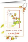 Custom Name Happy Birthday Card Cherry Tomatoes Illustration card
