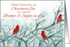 Happy Christmas Eve Anniversary Brother and Sister-in-Law card