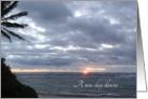 A New Day Dawns Encouragement Photograph Ocean Sunrise card